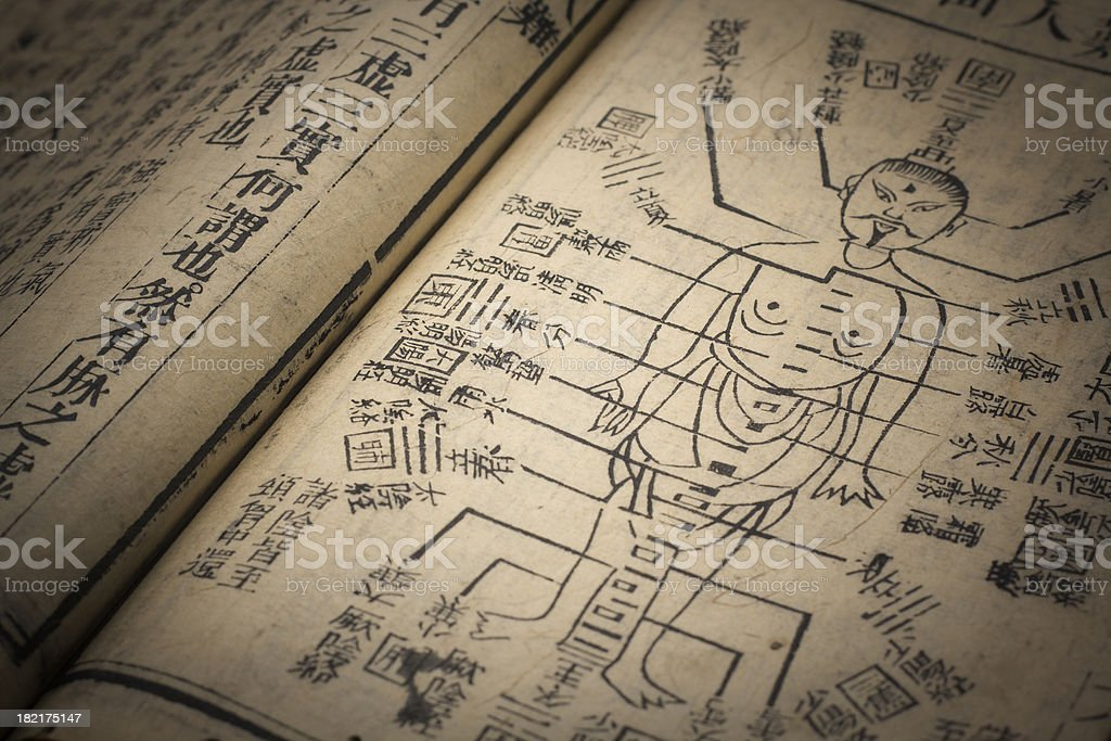 Chinese traditional medicine ancient book - Royalty-free Acupuncture Stock Photo