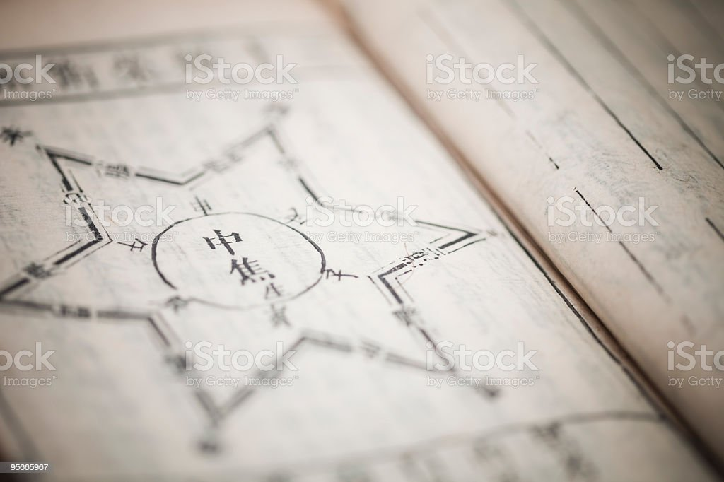 Chinese traditional medicine ancient book royalty-free stock photo
