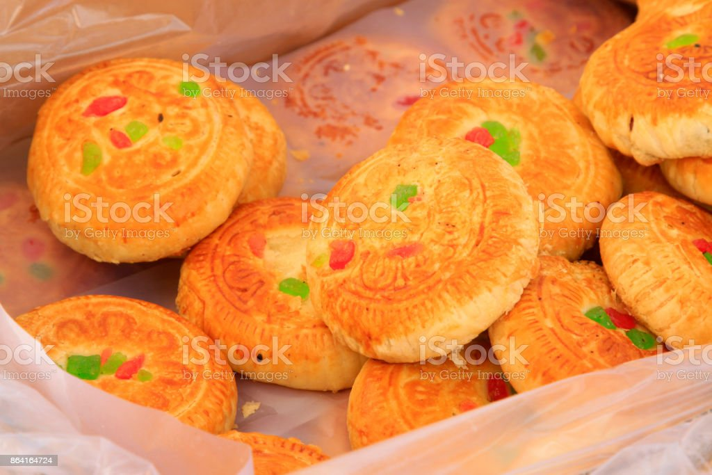 chinese traditional moon cake, closeup of photo royalty-free stock photo