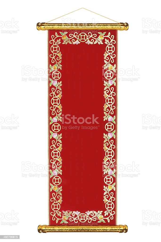 Chinese Traditional Scroll stock photo
