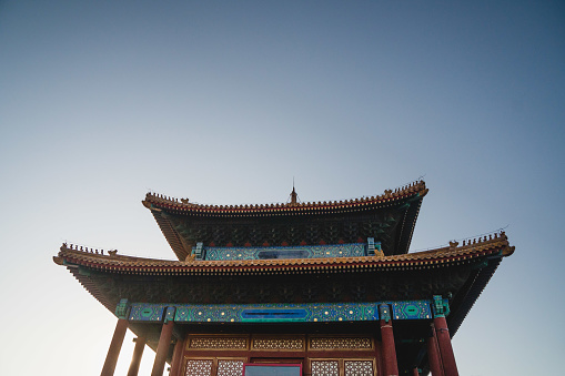 Chinese Traditional Temple Architecture Chinese Roof Top Design In Beijing Stock Photo Download Image Now Istock