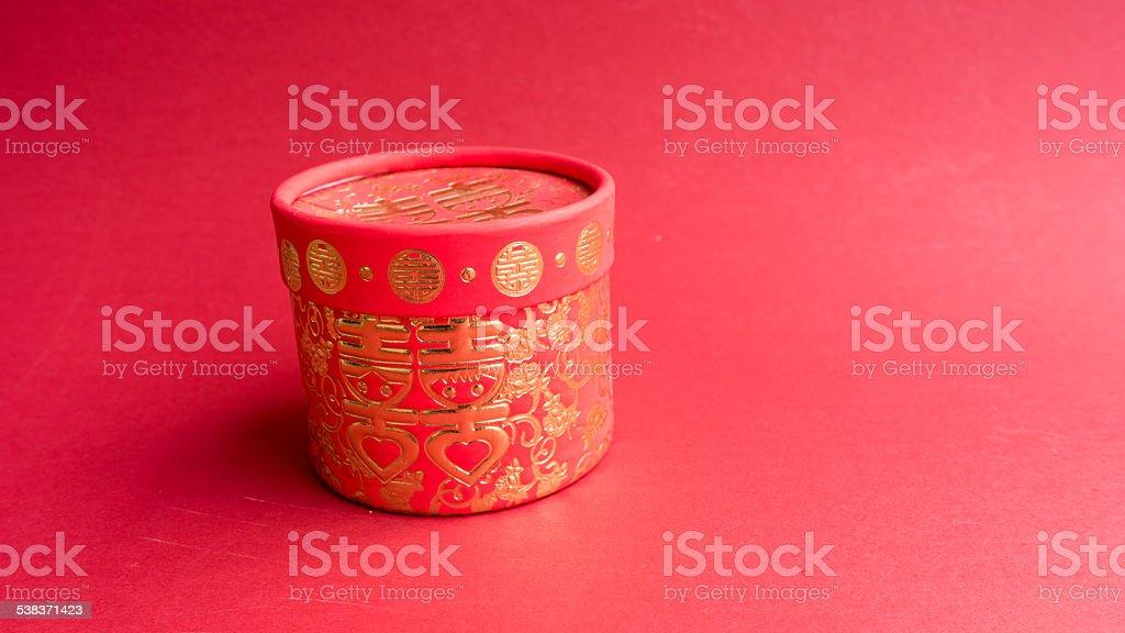 Traditionelle Chinesische Hochzeit Geschenkbox Stockfoto Und