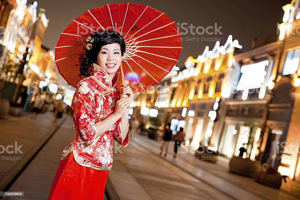 Chinese traditional woman royalty-free stock photo