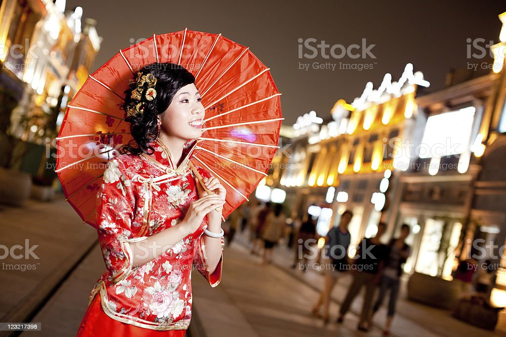 Chinese traditional woman stock photo