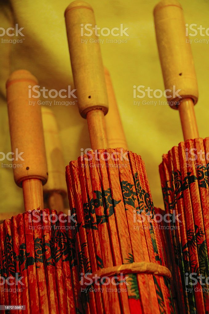 Chinese umbrella make with paper royalty-free stock photo
