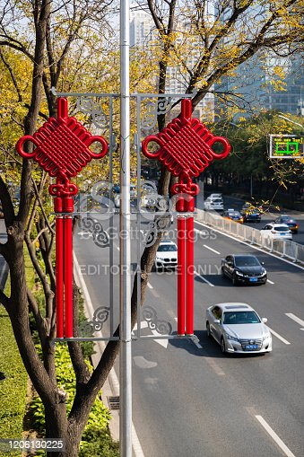 637668332 istock photo Chinese urban high-rise buildings and viaduct roads in Beijing financial district. 1206130225
