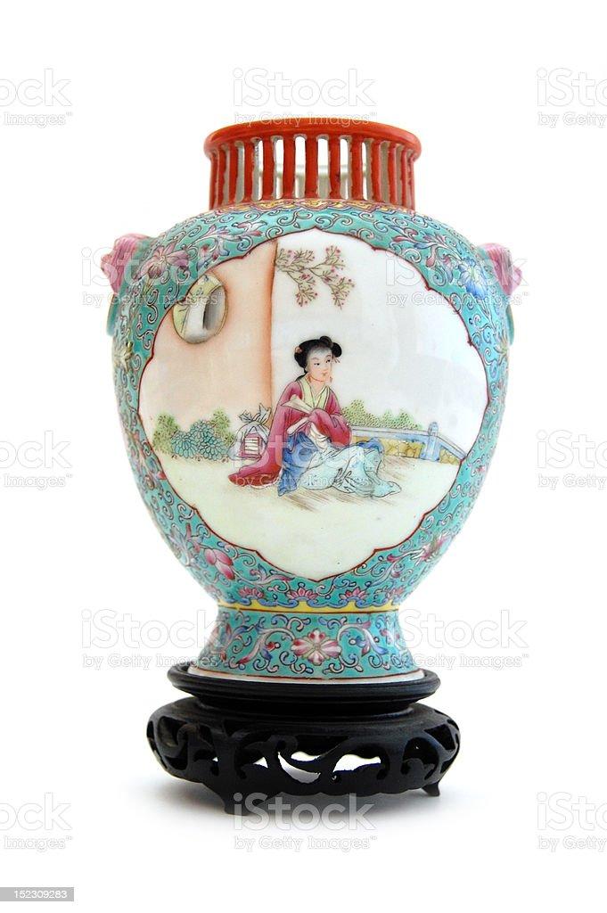 Chinese vase stock photo
