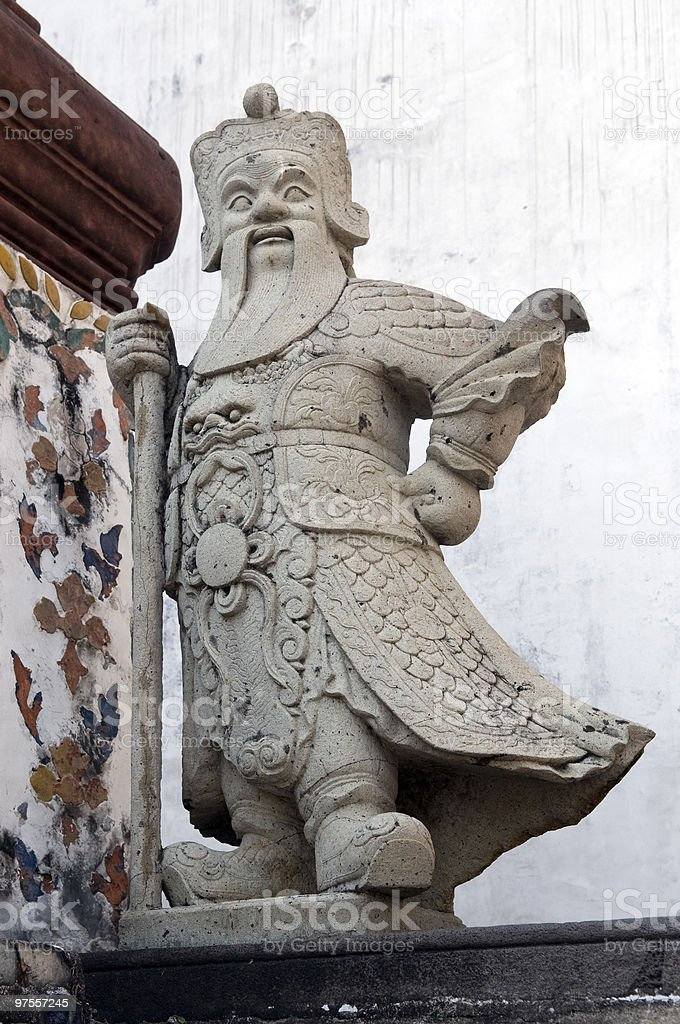 Chinese warrior guardian statue royalty-free stock photo