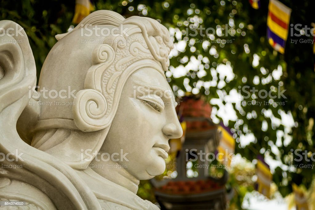 Chinese warrior marble. stock photo