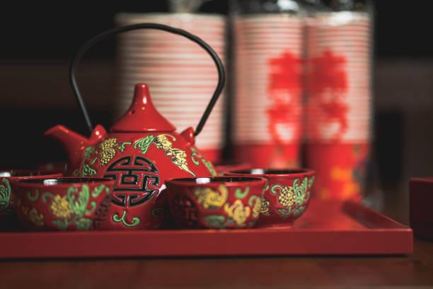 Chinese wedding tea ceremony stock photo