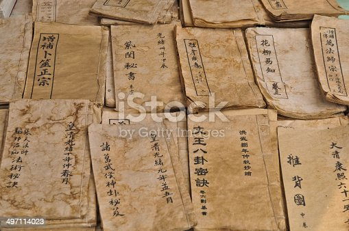 Chinese wisdom manuscript antique books