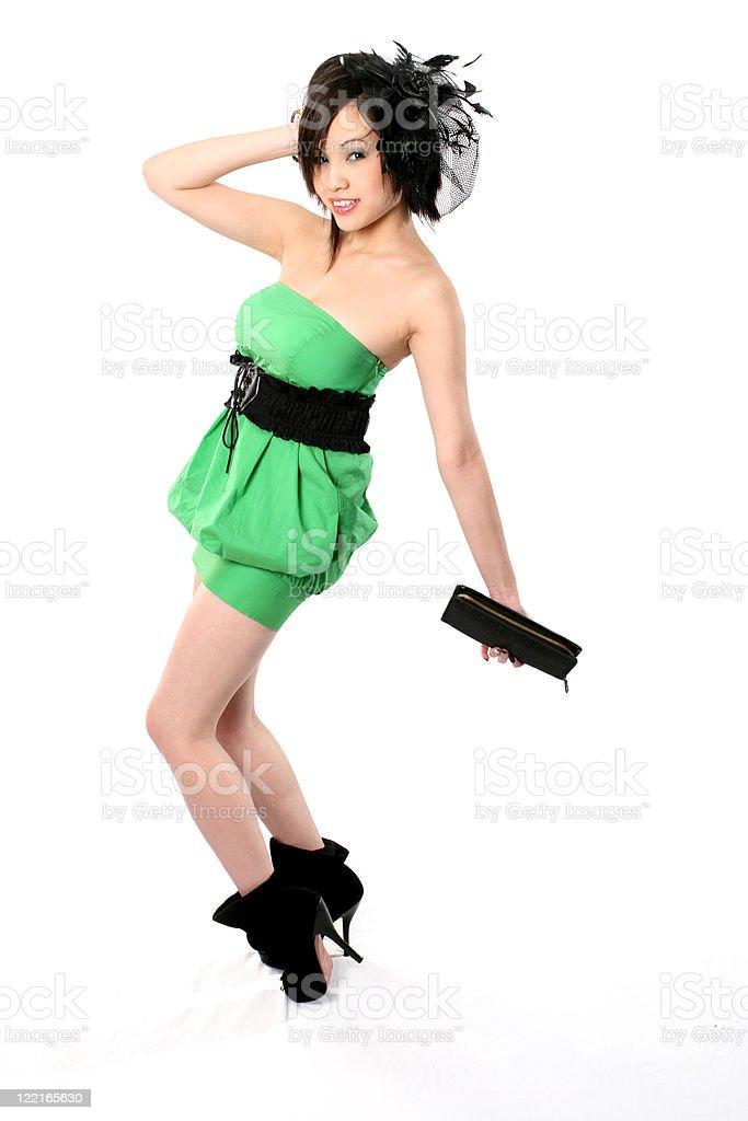21c29981f4f4 Donna Cinese In Un Vestito Verde - Fotografie stock e altre immagini ...