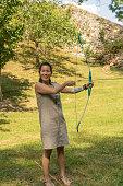 Séance de tir à l'arc, apprentissage, sport de tir, sport de précision