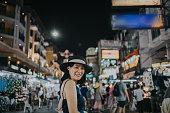 Thailand, Bangkok, night, street, night market, travel, shopping,Asia