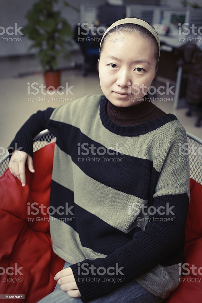 Chinese women in the Office royalty-free stock photo