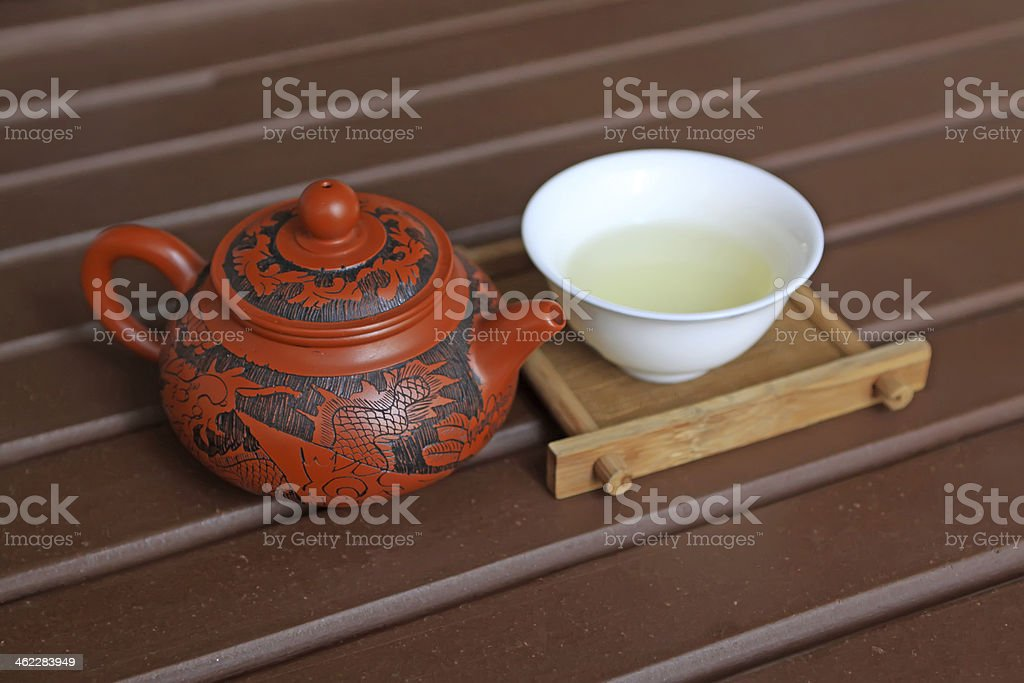 chinese yixing teapots stock photo
