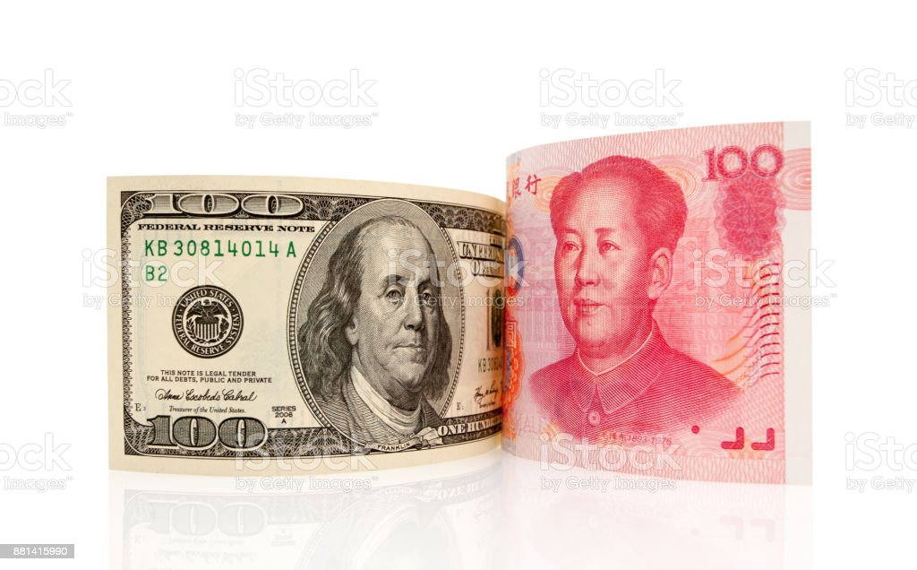 Chinese Yuan Note Us Dollar Isolated On White Background Stock Photo Download Image Now Istock