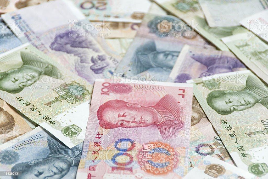 Chinese Yuan Notes stock photo
