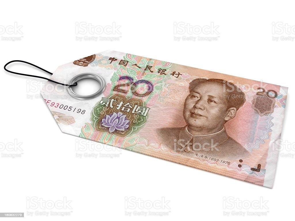 Chinese Yuan Price Tag royalty-free stock photo