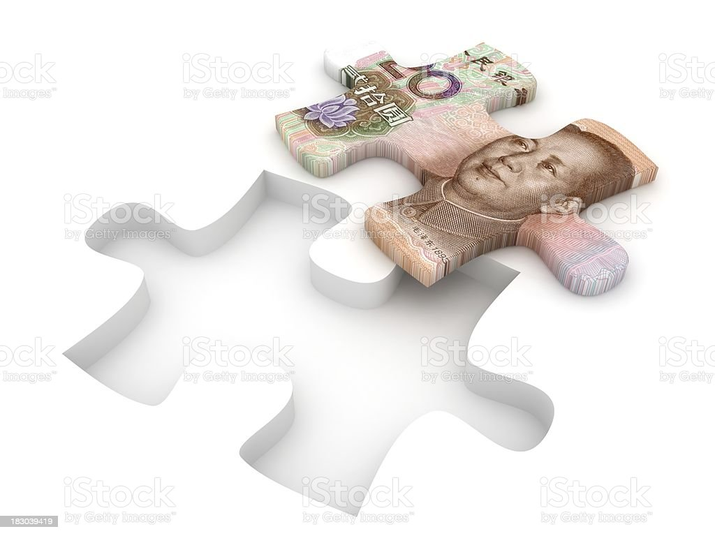 Chinese Yuan Puzzle royalty-free stock photo