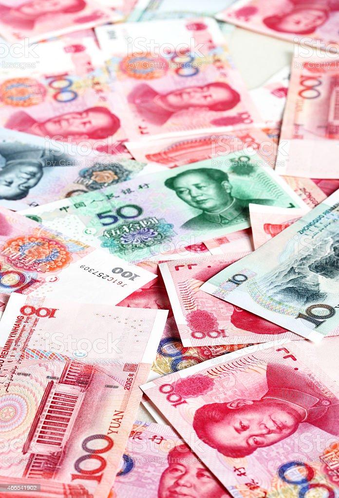 Chinese yuans stock photo