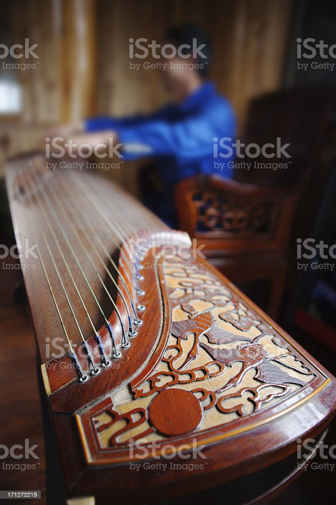 Chinese Zither stock photo