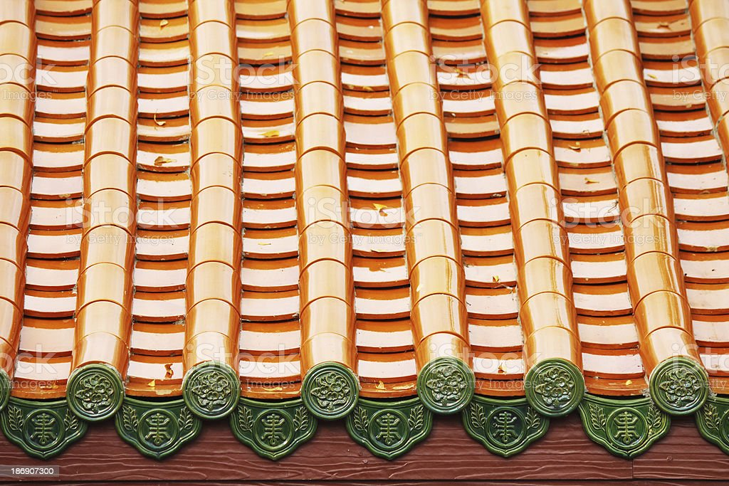 Chinese-style roof stock photo