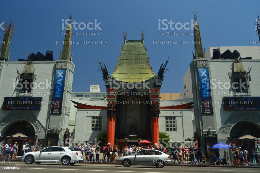 ChinesseTheatre Imax On Walk Of Fame In Hollywood Boluvedard stock photo