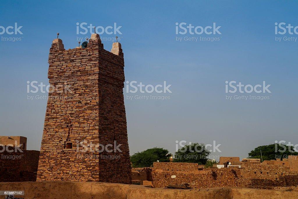 Chinguetti mosque, one of the symbols Mauritania stock photo