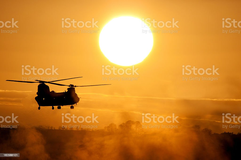 Chinook At Sunset stock photo