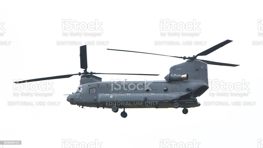Chinook CH-47 military helicopter stock photo