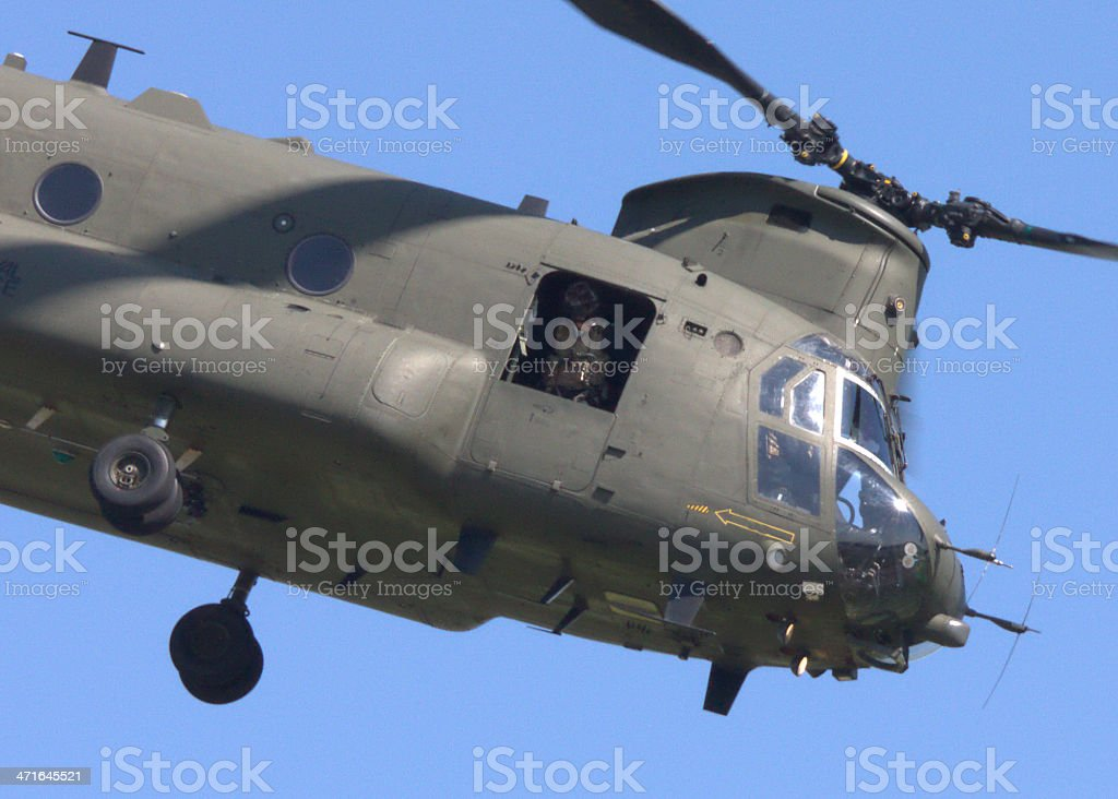 Chinook crew in action stock photo