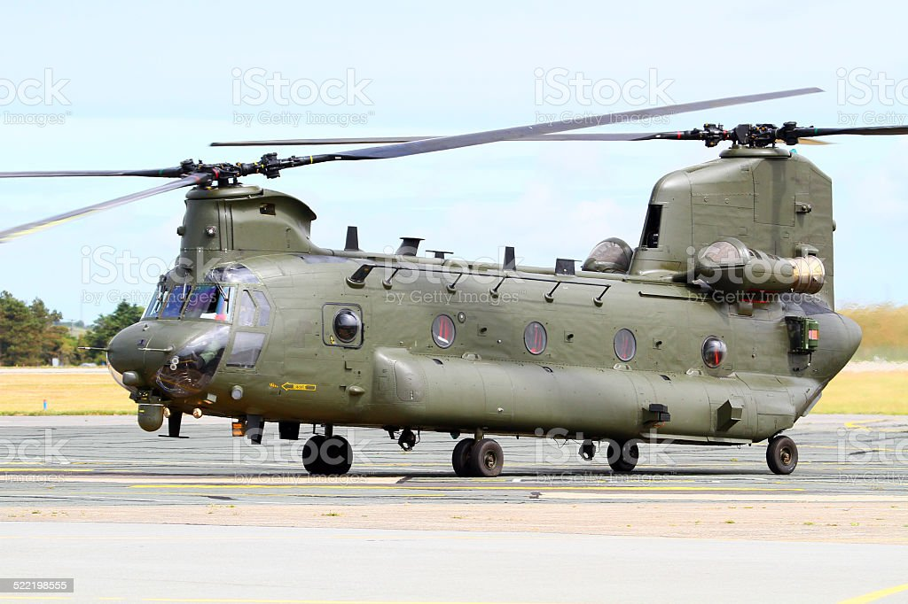 Chinook HC.4 of the Royal Air Force stock photo