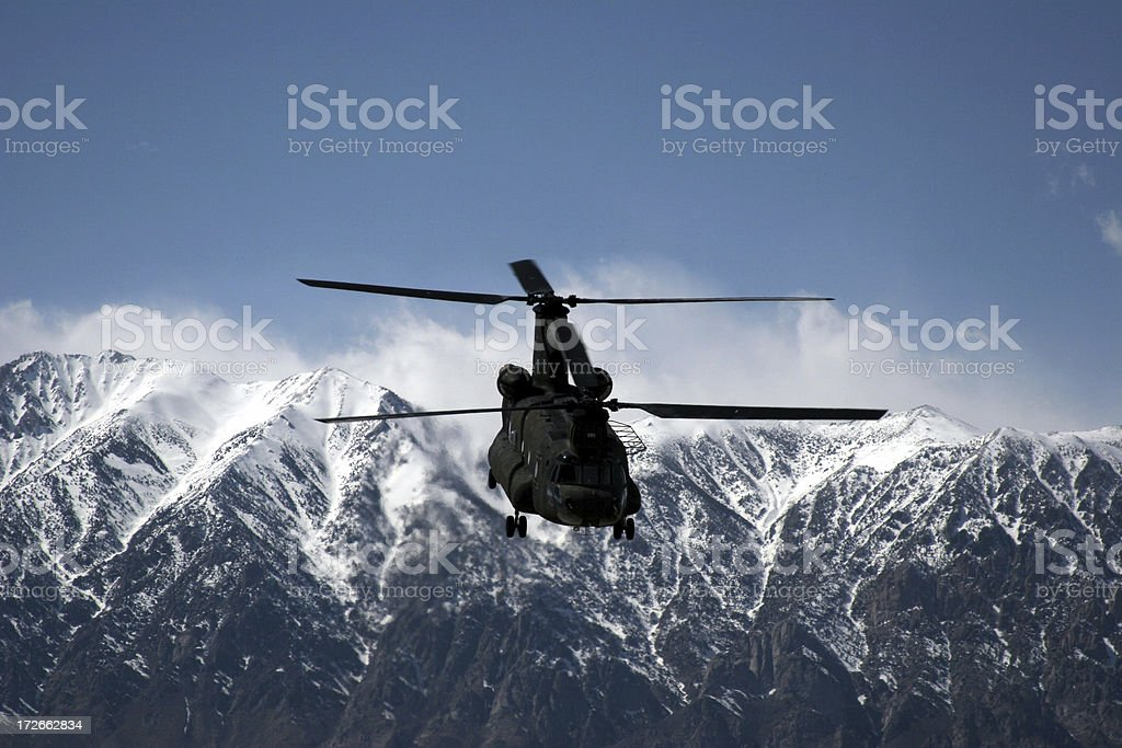 Chinook Helicopter 02 stock photo