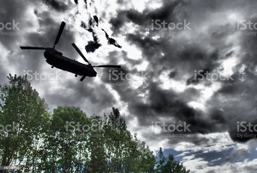 Chinook Helicopter flyby stock photo