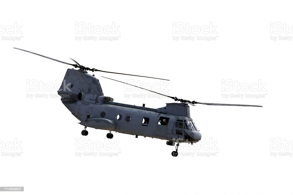 CH-46 Chinook Helicopter stock photo