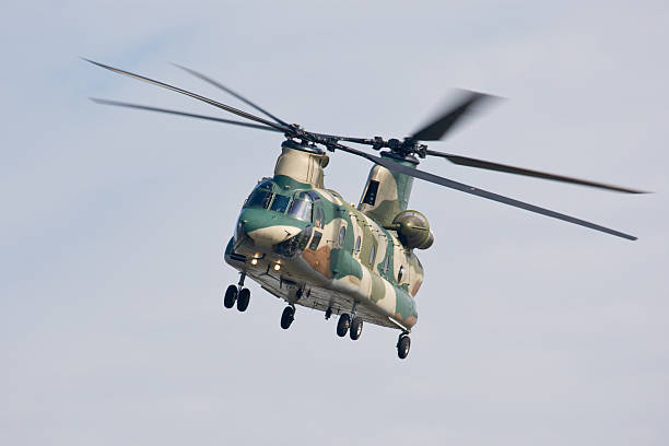Chinook Helicopter (front view) stock photo