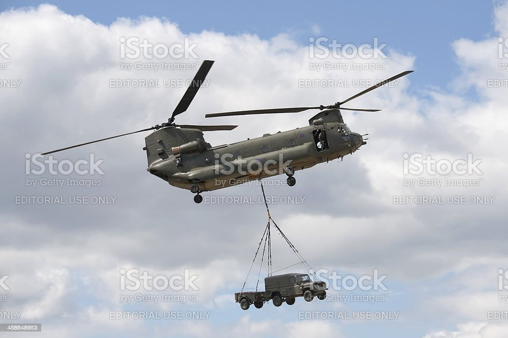 chinook helicopter stock photo