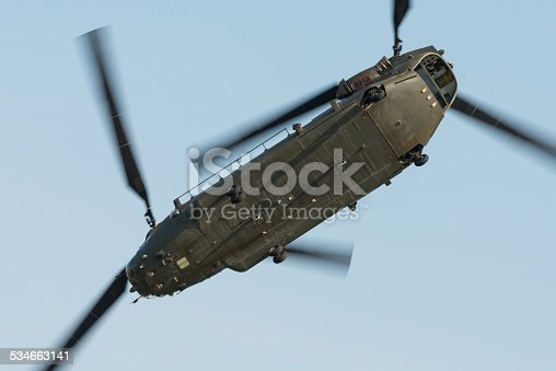 Chinook helicopter in flight