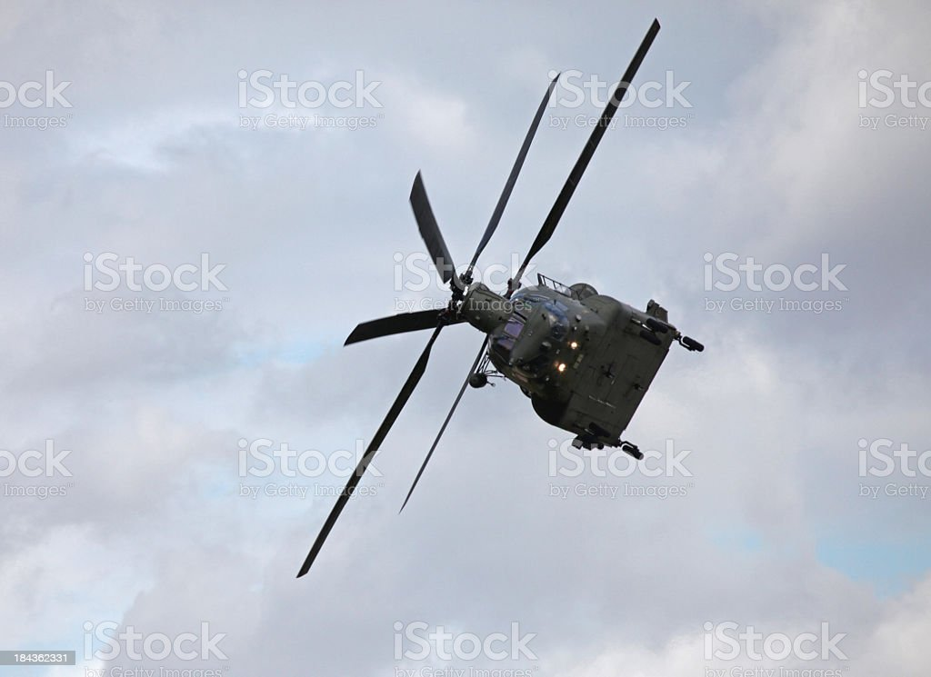 CH-47 Chinook Helicopter, Royal Air Force stock photo