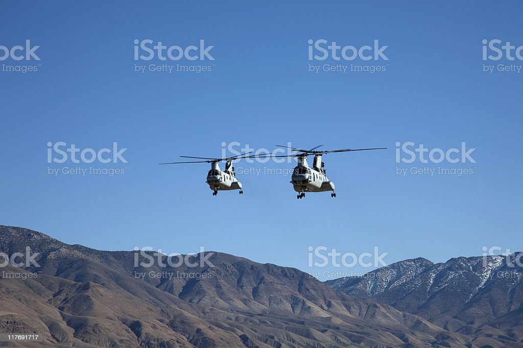 Chinook Helicopters stock photo