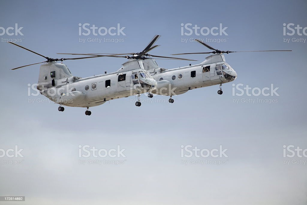 C-47 Chinook Helicopters stock photo