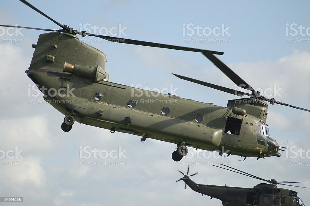 Chinook in air stock photo