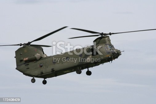 Chinook helicopter.