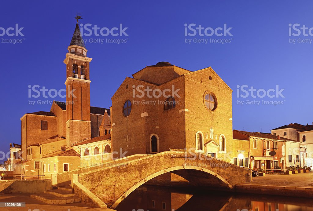 Chioggia in the evening royalty-free stock photo