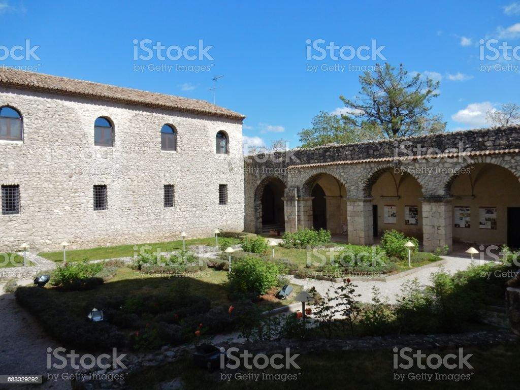 Chiostro dell'abbazia del Goleto royalty-free stock photo