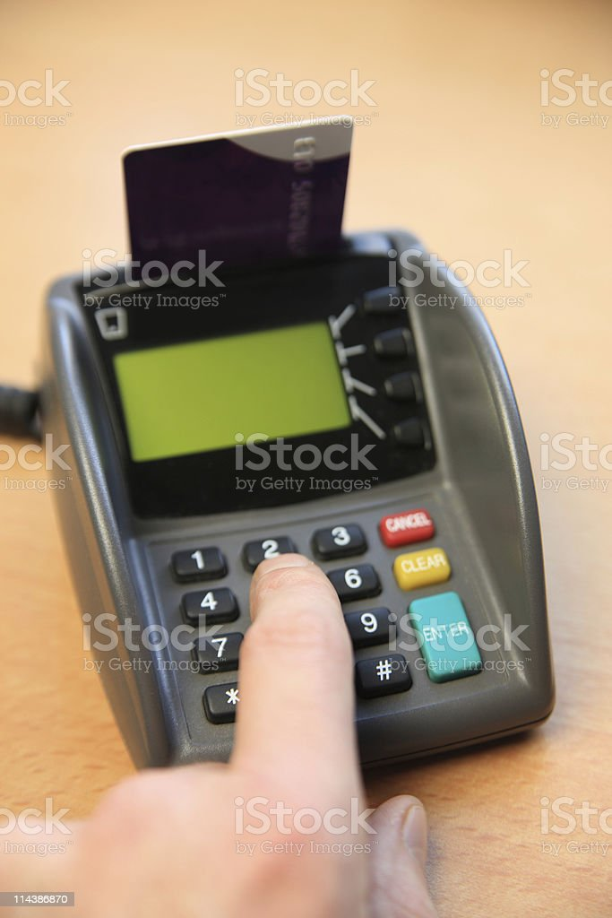 Chip and Pin Machine royalty-free stock photo