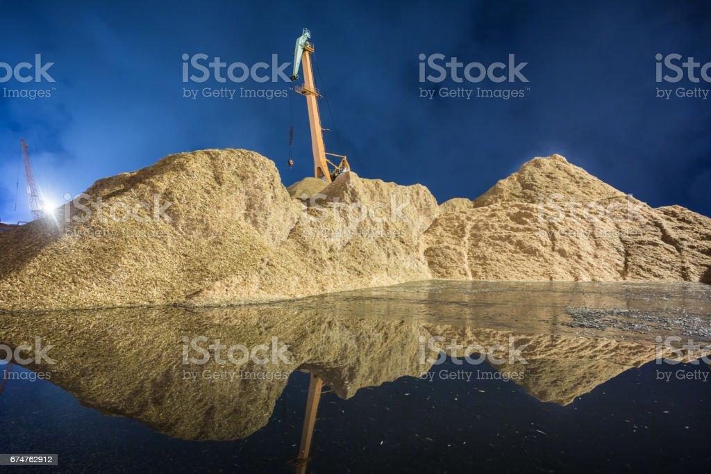 Chip mountain stock photo