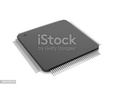 Chip on a white background.