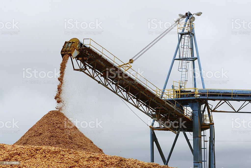 Chip Pile stock photo